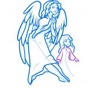 dessiner des anges de noel - etape 12