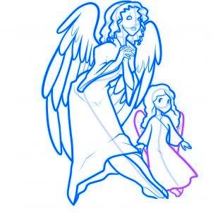 dessiner des anges de noel - etape 13