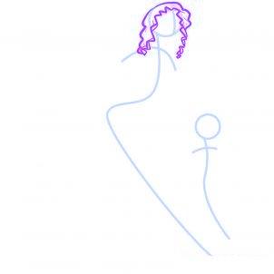 dessiner des anges de noel - etape 2