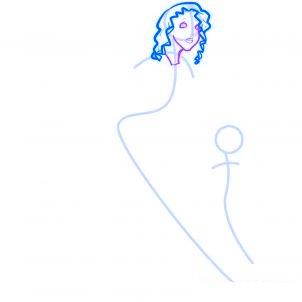 dessiner des anges de noel - etape 3