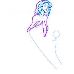 dessiner des anges de noel - etape 4