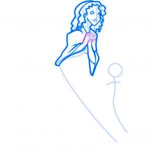 dessiner des anges de noel - etape 5