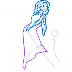 dessiner des anges de noel - etape 6