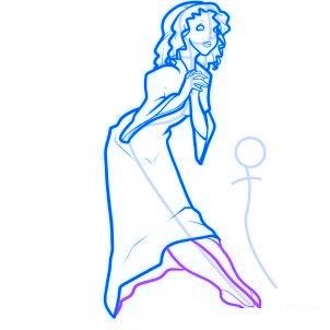 dessiner des anges de noel - etape 7