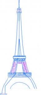 dessiner une tour eiffel - etape 3