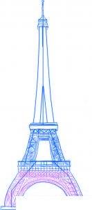 dessiner une tour eiffel - etape 4