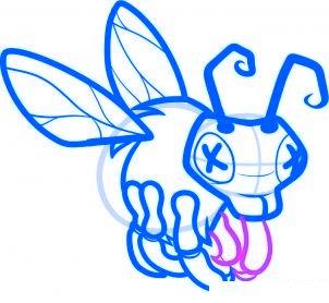 dessiner abeille zombie - etape 6