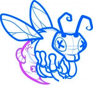dessiner abeille zombie - etape 7