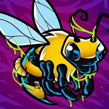 dessin abeille zombie terminé