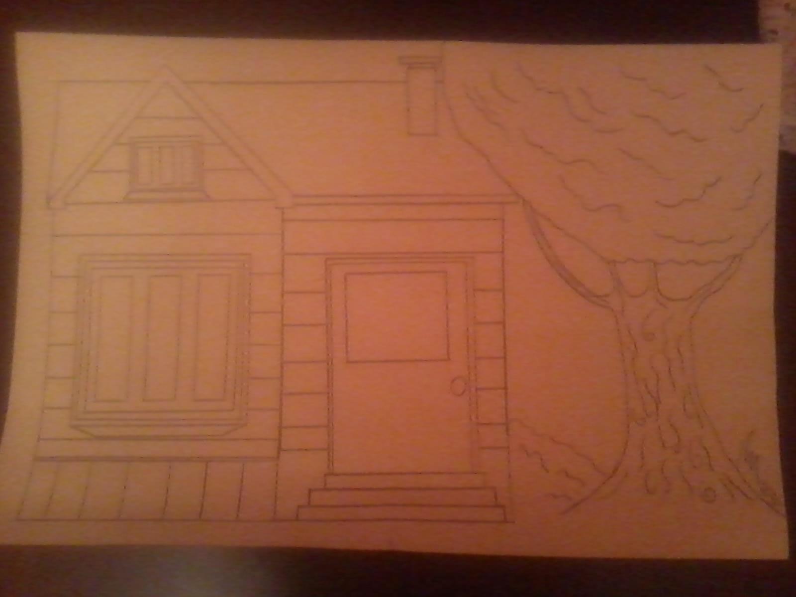 Comment dessiner une maison allodessin - Comment dessiner une colombe ...